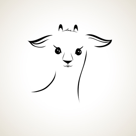 vector stylized figure of a goat