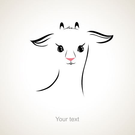 vector stylized figure of a goat Vector