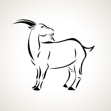 ヤギのベクトル様式化された図  イラスト・ベクター素材
