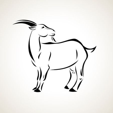 vector stylized figure of a goat Stok Fotoğraf - 27140956