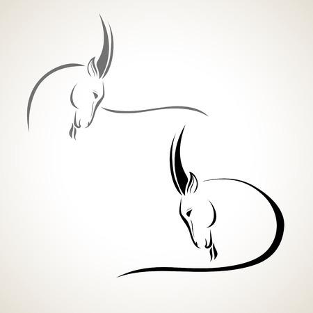 vector gestileerde afbeelding van een geit Stock Illustratie