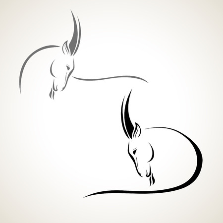 domestic goat: vector stylized figure of a goat