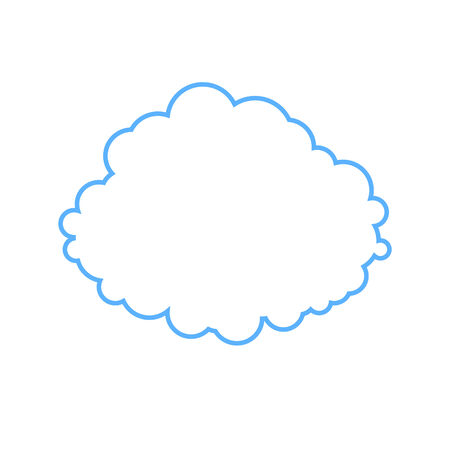 airiness: stylized image of cloud isolated from the background