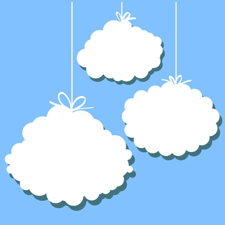 airiness: set of stylized images of clouds