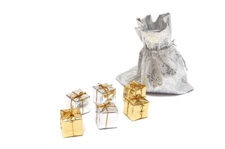 The gifts on a white background photo