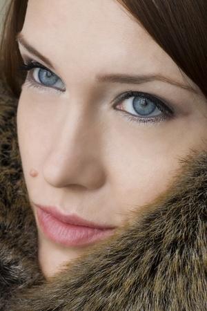 Girl in closeup shot  photo