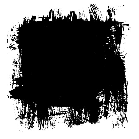 scraping: On a white background paint sloppy draws a square