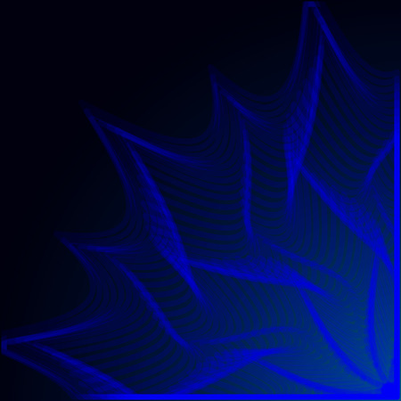 Dark blue background with glowing part , abstract stars . Иллюстрация