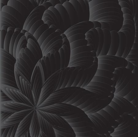 Fantastic bulk flower in shades of gray. Иллюстрация