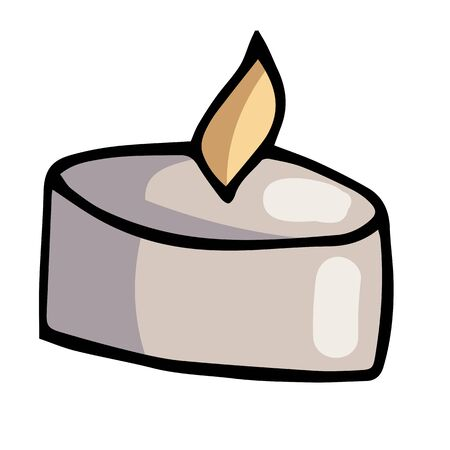 hand-drawn doodle illustration color candle for aromatherapy spa and relaxation
