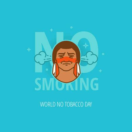 31st: International No Smoking Campaign Celebration flat design template