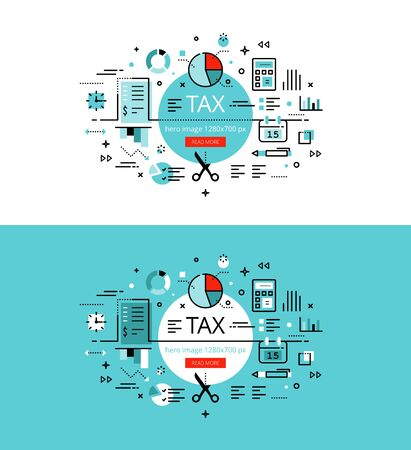 impost: Set of trendy illustration concepts of taxes