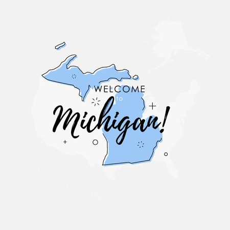 84 greetings from michigan stock illustrations cliparts and royalty vector illustration of greeting sign with welcome to michigan text and state silhouette m4hsunfo
