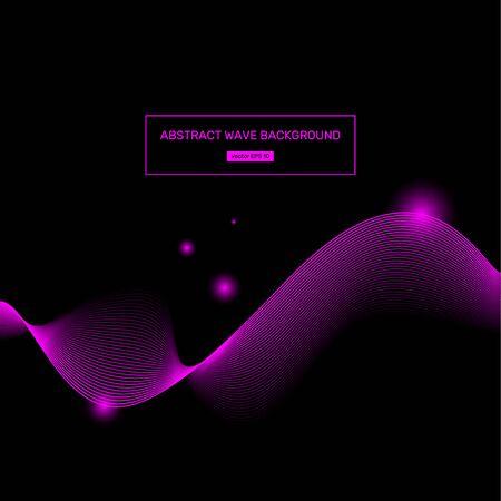 Purple abstract in black illustration.