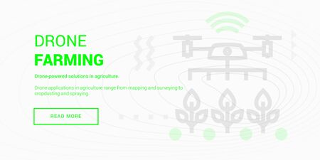 Remotely Piloted Aircraft Farming banner 向量圖像