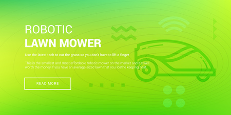 Hi-tech Robotic Lawn Mower vector illustration