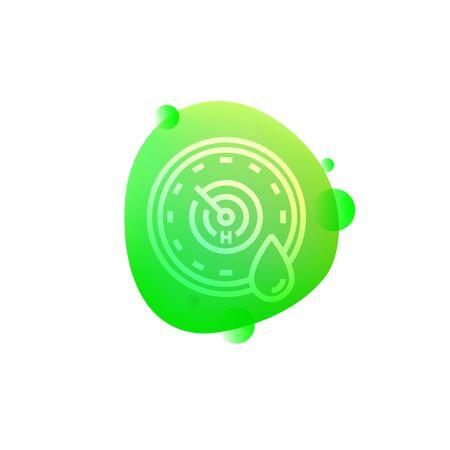 Robotic Humidity Sensor icon Vector illustration. Vectores
