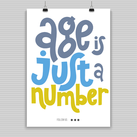 Irreverent Birthday. Poster with hand drawn vector lettering. Vectores