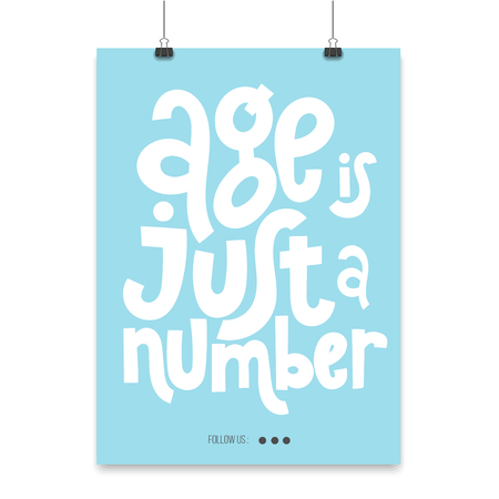 Irreverent Birthday. Poster with hand drawn vector lettering. Illustration