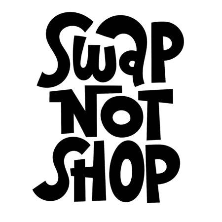Swap party lettering