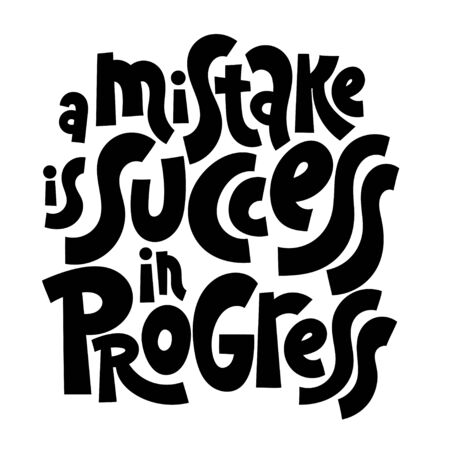 Progress motivation lettering