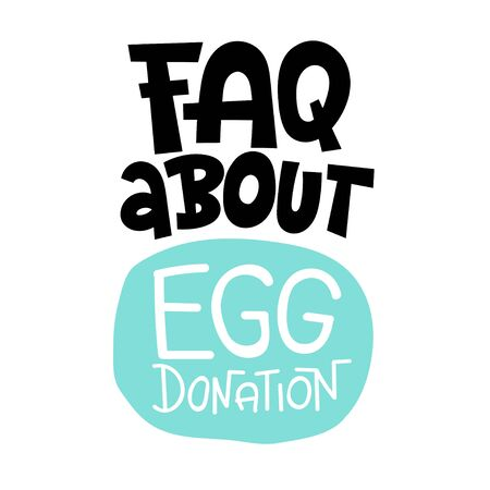 Egg donation lettering quotes Stock Illustratie