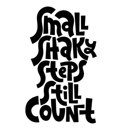 Progress motivation lettering