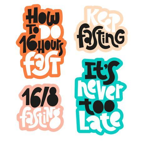 Fasting diet lettering Illustration
