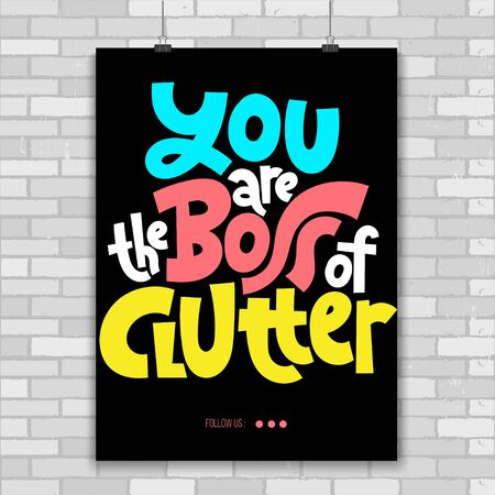 Decluttering quotes lettering Illustration