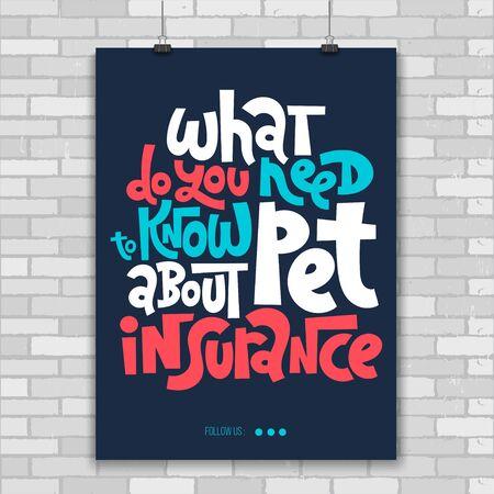 Pet Insurance Lettering