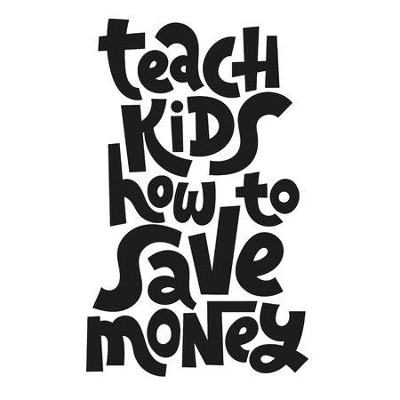 Kid finance lettering Stock Vector - 133335761