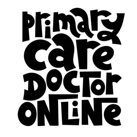 Online doctor lettering Stock Vector - 133335768