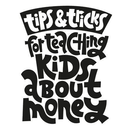 Kid finance lettering Ilustrace