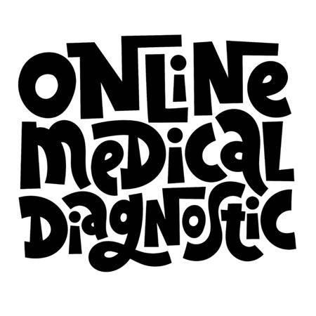 Online doctor lettering Stock Vector - 133335770