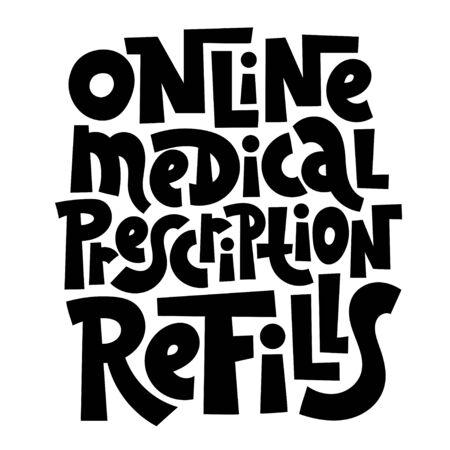 Online doctor lettering Stock Vector - 136669262