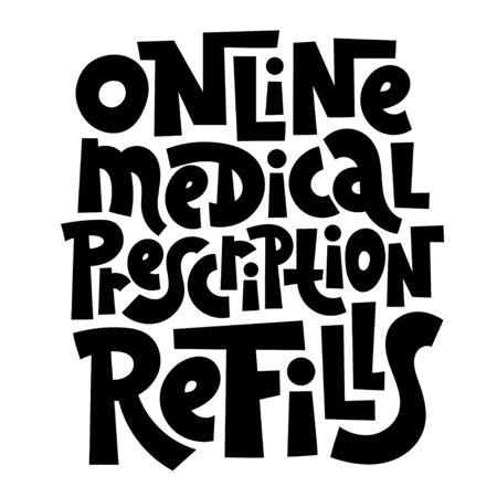 Online doctor lettering Illustration