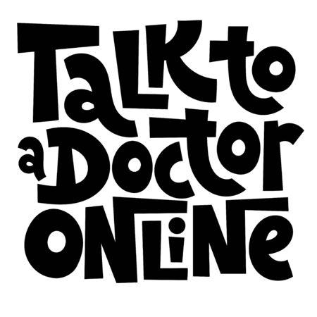 Online doctor lettering Stock Vector - 136669275