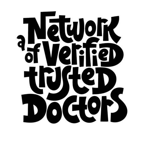 Online doctor lettering Stock Vector - 136669278