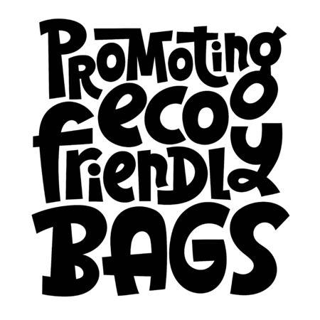 Keep bag Lettering 向量圖像