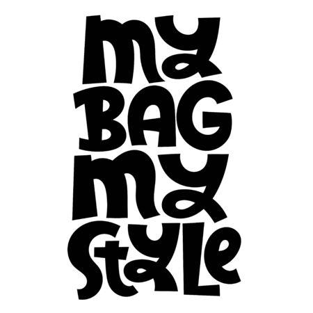 Keep bag Lettering Stock Illustratie