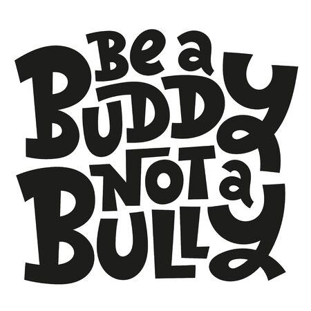 Anti Bullying Lettering on white Stock Illustratie