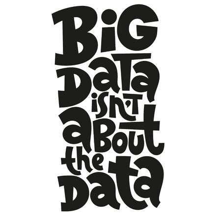 Big Data Lettering Stockfoto