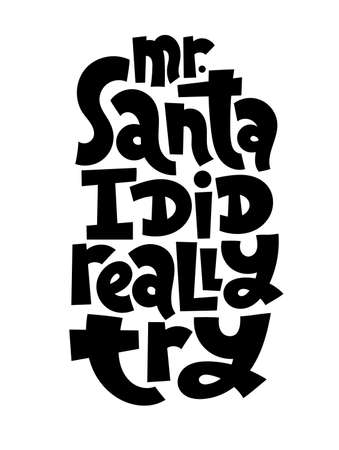 Anti Christmas vector lettering
