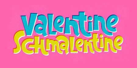 Anti Valentine hand drawn lettering Vettoriali