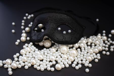 Bunch of multi size pearls on a background.Glamorous pearls milky-way.luxury lifestyle.Holiday decoration.Nice and shiny romantic morning.Love and success. Stockfoto