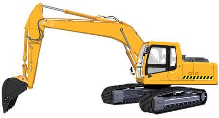 Excavator. The Illustration in format vector eps Stock Vector - 11019427
