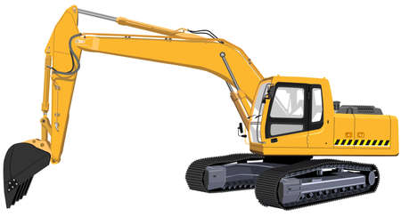 Excavator. The Illustration in format vector eps