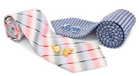 Man cuff links and tie photo