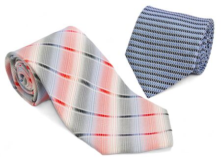 Man two ties izolated on a white Stock Photo - 11503559