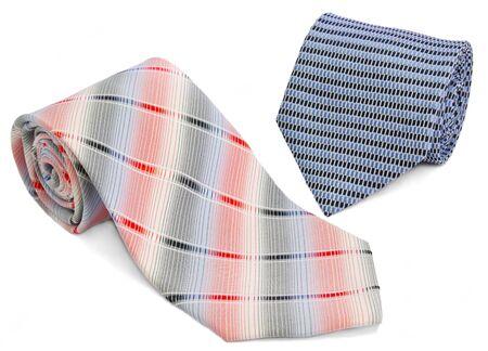Man two ties izolated on a white Stock Photo - 11503559